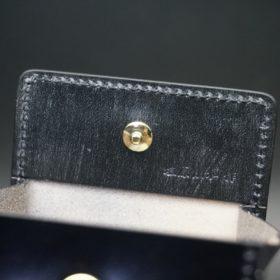 レーデルオガワ社製染料仕上げコードバンのブラック色の小銭入れ(ゴールド色)-1-8