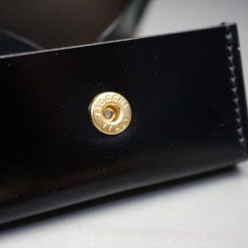 レーデルオガワ社製染料仕上げコードバンのブラック色の小銭入れ(ゴールド色)-1-9