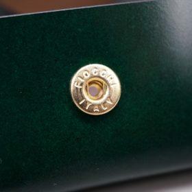 レーデルオガワ社製染料仕上げコードバンのグリーン色の小銭入れ(ゴールド色)-1-9