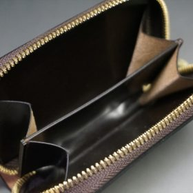 ホーウィン社製シェルコードバンの#8色のラウンドファスナー小銭入れ(ゴールド色)-2-10