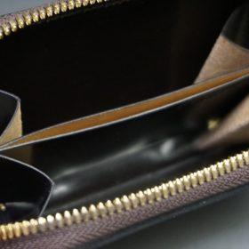 ホーウィン社製シェルコードバンの#8色のラウンドファスナー小銭入れ(ゴールド色)-2-11
