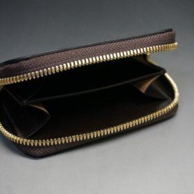 ホーウィン社製シェルコードバンの#8色のラウンドファスナー小銭入れ(ゴールド色)-2-6