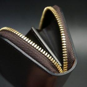 ホーウィン社製シェルコードバンの#8色のラウンドファスナー小銭入れ(ゴールド色)-2-8
