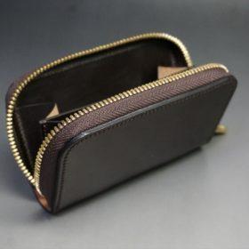 ホーウィン社製シェルコードバンの#8色のラウンドファスナー小銭入れ(ゴールド色)-2-9