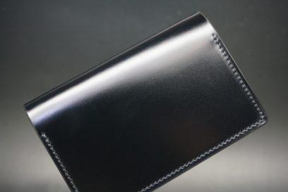 レーデルオガワ社製染料仕上げコードバンのブラック色の名刺入れ-1-1