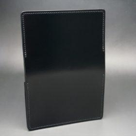 レーデルオガワ社製染料仕上げコードバンのブラック色の名刺入れ-1-6