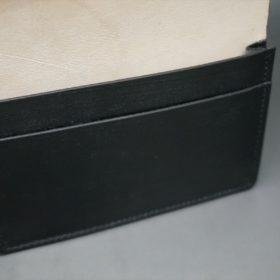 レーデルオガワ社製染料仕上げコードバンのブラック色の名刺入れ-1-9