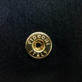 レーデルオガワ社製染料仕上げコードバンのブラック色の二つ折り財布(ゴールド色)-1-9