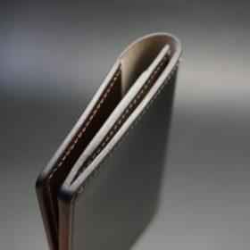 レーデルオガワ社製染料仕上げコードバンのバーガンディ色の名刺入れ-2-5