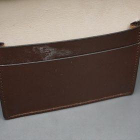 レーデルオガワ社製染料仕上げコードバンのバーガンディ色の名刺入れ-2-9
