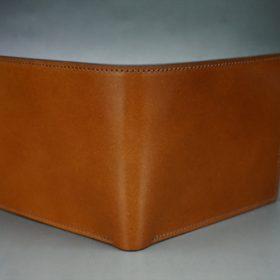 レーデルオガワ社製染料仕上げコードバンのキャメル色の二つ折り財布(ゴールド色)-1-2