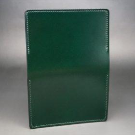 レーデルオガワ社製染料仕上げコードバンのグリーン色の名刺入れ-1-6