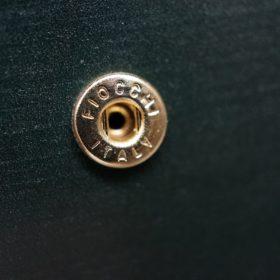 レーデルオガワ社製染料仕上げコードバンのグリーン色の二つ折り財布(ゴールド色)-1-10