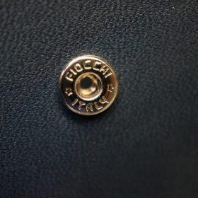 レーデルオガワ社製染料仕上げコードバンのネイビー色の二つ折り財布(シルバー色)-1-9