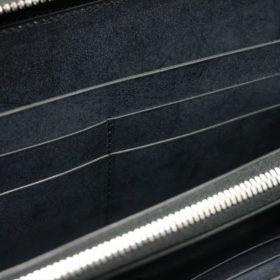 レーデルオガワ社製オイルコードバンのブラック色のラウンドファスナー長財布(シルバー色)-1-8
