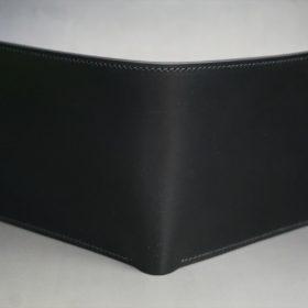 レーデルオガワ社製オイル仕上げコードバンのブラック色の二つ折り財布(ゴールド色)-1-2