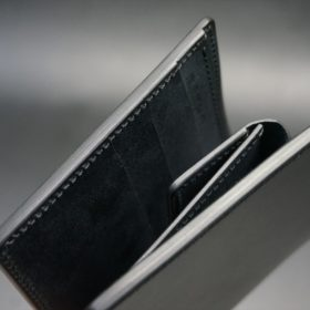 レーデルオガワ社製オイル仕上げコードバンのブラック色の二つ折り財布(ゴールド色)-1-3