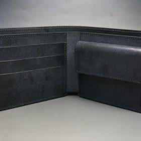 レーデルオガワ社製オイル仕上げコードバンのブラック色の二つ折り財布(ゴールド色)-1-5