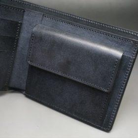 レーデルオガワ社製オイル仕上げコードバンのブラック色の二つ折り財布(ゴールド色)-1-7