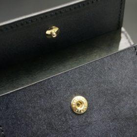 レーデルオガワ社製オイル仕上げコードバンのブラック色の二つ折り財布(ゴールド色)-1-9