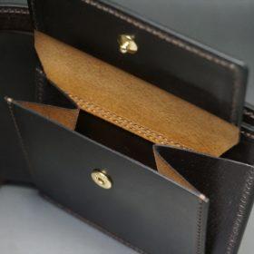 レーデルオガワ社製オイル仕上げコードバンのバーガンディ色の二つ折り財布(ゴールド色)-1-8