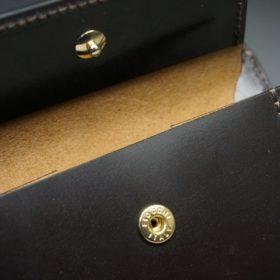 レーデルオガワ社製オイル仕上げコードバンのバーガンディ色の二つ折り財布(ゴールド色)-1-9