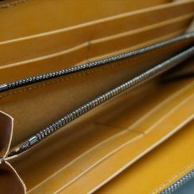 レーデルオガワ社製オイルコードバンのコーヒーブラウン色のラウンドファスナー長財布(シルバー色)-2-8
