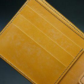 レーデルオガワ社製オイル仕上げコードバンのコーヒーブラウン色の二つ折り財布(ゴールド色)-1-6