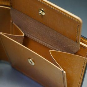 レーデルオガワ社製オイル仕上げコードバンのコーヒーブラウン色の二つ折り財布(ゴールド色)-1-8