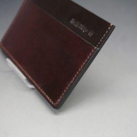 ホーウィン社製シェルコードバンの#8色のカードケース-1-3