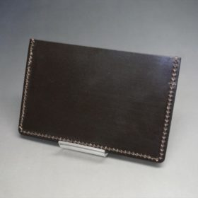 ホーウィン社製シェルコードバンの#8色のカードケース-1-4