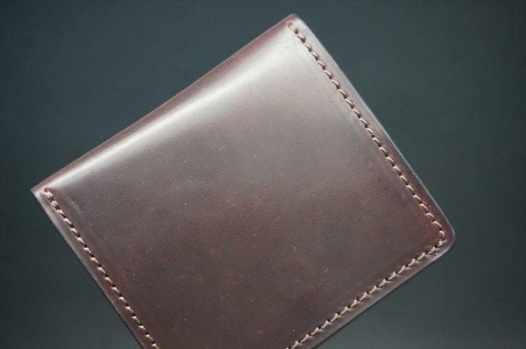 ホーウィン社製シェルコードバンの#8色の小銭入れ(ゴールド色)-1-1