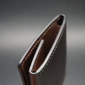 ホーウィン社製シェルコードバンの#8色の小銭入れ(ゴールド色)-1-5