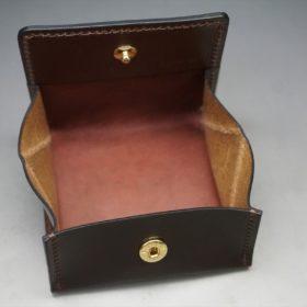 ホーウィン社製シェルコードバンの#8色の小銭入れ(ゴールド色)-1-7