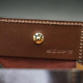 ホーウィン社製シェルコードバンの#8色の小銭入れ(ゴールド色)-1-8