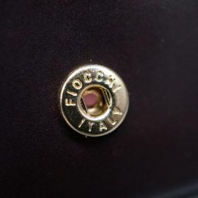 ホーウィン社製シェルコードバンの#8色の小銭入れ(ゴールド色)-1-9