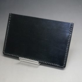 ホーウィン社製シェルコードバンのブラック色のカードケース-1-4