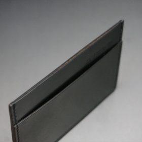 ホーウィン社製シェルコードバンのブラック色のカードケース-1-6