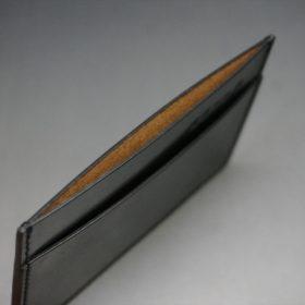 ホーウィン社製シェルコードバンのブラック色のカードケース-1-7