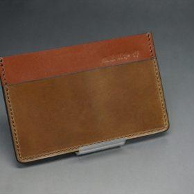 ホーウィン社製シェルコードバンのバーボン色のカードケース-1-2