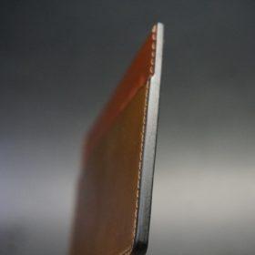 ホーウィン社製シェルコードバンのバーボン色のカードケース-1-5