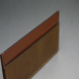 ホーウィン社製シェルコードバンのバーボン色のカードケース-1-6