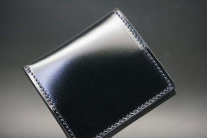 新喜皮革社製オイルコードバンのブラック色の小銭入れ(ゴールド色)-2-1