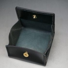 新喜皮革社製オイルコードバンのブラック色の小銭入れ(ゴールド色)-2-7