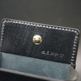 新喜皮革社製オイルコードバンのブラック色の小銭入れ(ゴールド色)-2-8