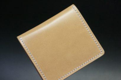 新喜皮革社製オイルコードバンのナチュラル色の小銭入れ(シルバー色)-1-1