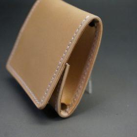 新喜皮革社製オイルコードバンのナチュラル色の小銭入れ(シルバー色)-1-3