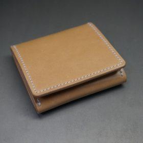 新喜皮革社製オイルコードバンのナチュラル色の小銭入れ(シルバー色)-1-5