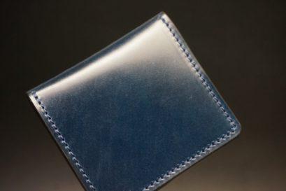 新喜皮革社製オイルコードバンのネイビー色の小銭入れ(シルバー色)-1-1