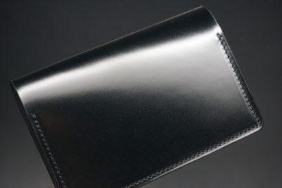 新喜皮革社製オイルコードバンのブラック色の名刺入れ-1-1